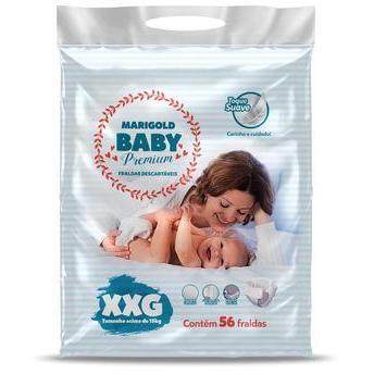 Fralda Marigold Baby Premium - Tamanho - XXG - 56 unidades