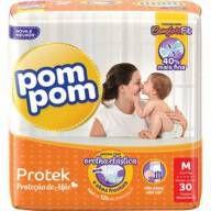 Fralda Pom Pom Protek Baby Tamanho M - 30 Unidades