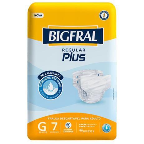 Fraldas Descartáveis Bigfral Plus Incontinência Intensa G - 7 Unidades