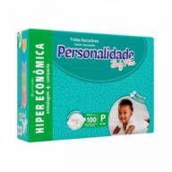 Fralda Personalidade Baby Plus - Tamanho P - 100 unidades