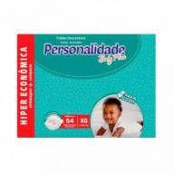 Fralda Personalidade Baby Plus - Tamanho XG - 54 unidades