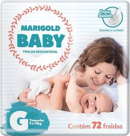 Marigold Baby Premium - Tamanho G - 72 unidades