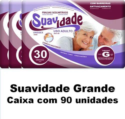 Fralda Geriátrica Suavidade Tam. G - Pacote com 90 unid.