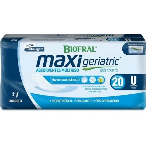 Absorvente Geriátrico Maxi Geriatric com 20 unid.