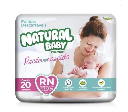 Fralda Descartável Natural Baby Premium RN - 20 Unidades