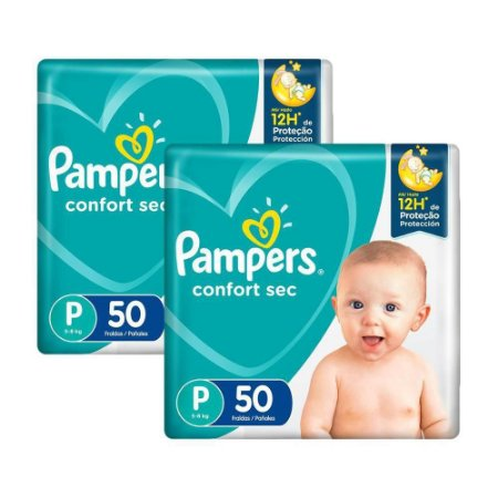 Fralda Pampers Confort Sec Tamanho P 100 Unidades
