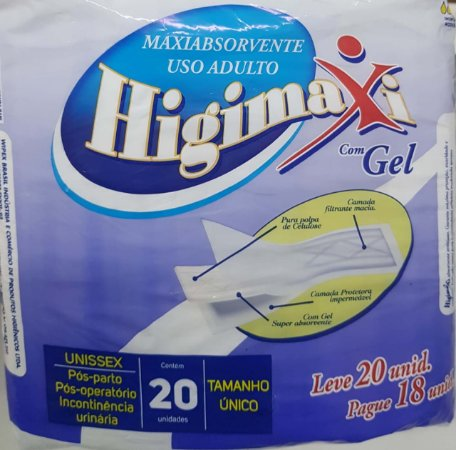 Absorvente Higimaxi com Gel 20 unidades
