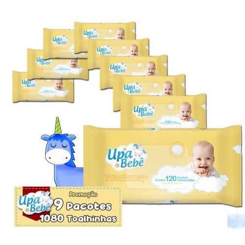 Toalha Umedecida Upa Bebê Kit 9 Pct. 1.080 toalhinhas