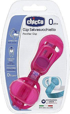 Clip Protetor Para Chupeta Rosa ou Azul Chicco