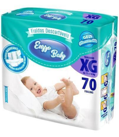 Fralda Enzzo Baby Tam XG 70 Unidades