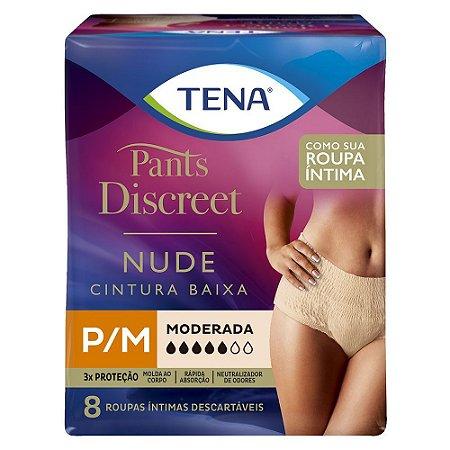 ROUPA ÍNTIMA TENA PANTS DISCREET NUDE P/M 8 unidades