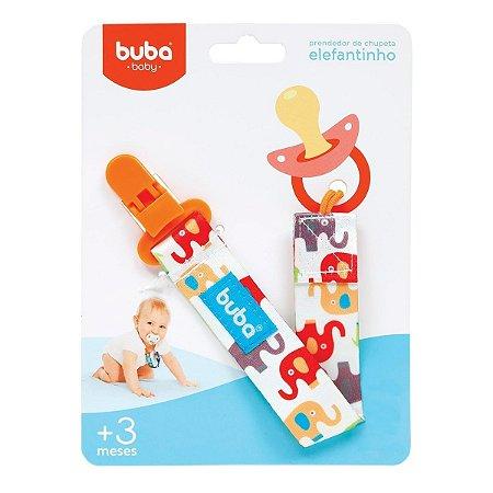 Prendedor de Chupeta Buba Toys c/ Clipe Elefantinho Vermelho