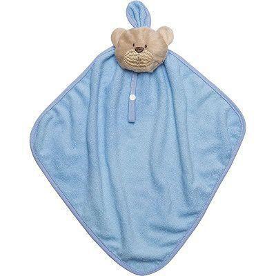 Naninha Com Prendedor De Chupeta Bambi Urso Azul Atoalhada