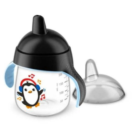 Copo Pinguim 260ml Philips Avent Preto 12M+