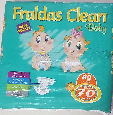 Fralda Infantil Clean Baby Tam EG com 70 unid