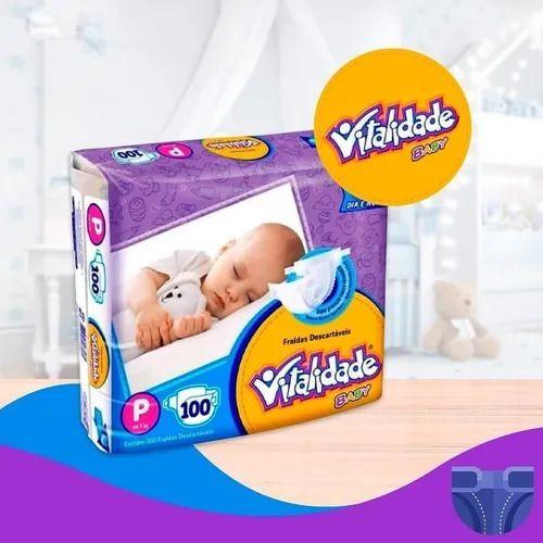 Fralda Vitalidade Baby Mega P 100 unid