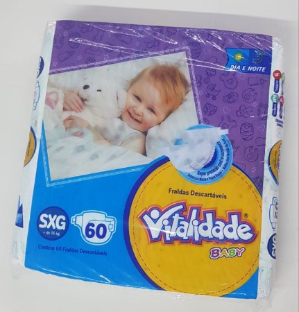 Fralda Vitalidade Baby Mega SXG 60 unid