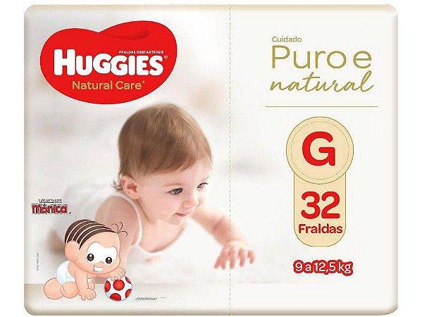 Fralda Huggies Natural Care - Tam. G 9 a 12,5Kg