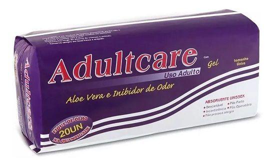 Absorvente Geriátrico Adultcare fardo com 240 unidades