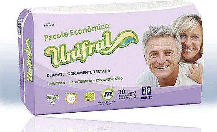 FRALDA GERIÁTRICA UNIFRAL MÉDIA C/120