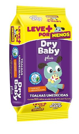 TOALHA UMEDECIDA DRY BABY 12 x 100 UNIDADES