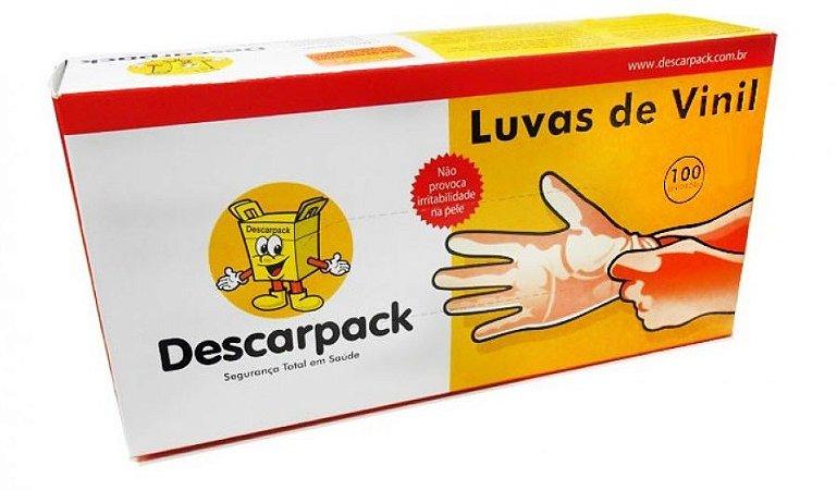 LUVA DE VINIL- DESCARPACK - 4 CAIXAS