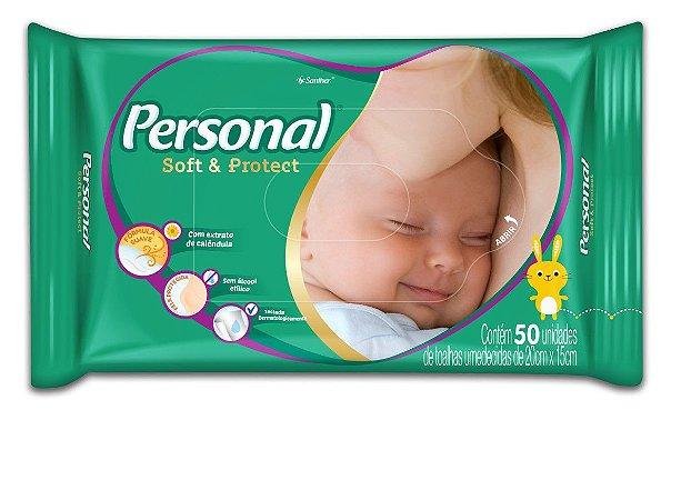 TOALHINHAS UMEDECIDAS PERSONAL SOFT PROTECT C/50
