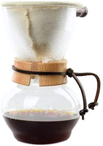 Cafeteira para coador em vidro