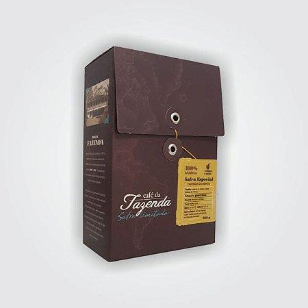 Café da Fazenda Safra Limitada 250g   Bourbon Amarelo Torrado e Moído