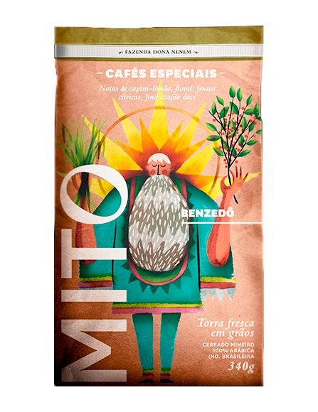 Café Mito Benzedô 100% arábica EM GRÃOS 250 g