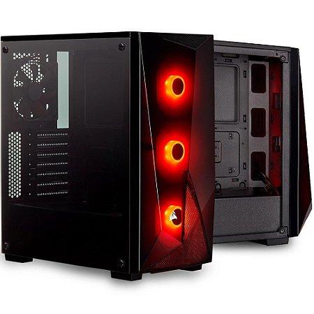 Gabinete Gamer Corsair Carbide Series Spec Delta RGB, 4 Fans, Vidro Temperado, Preto - CC-9011166-WW