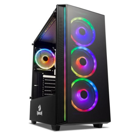 Gabinete Gamer Redragon Grapple, S/Fan, Preto - GC-607BK