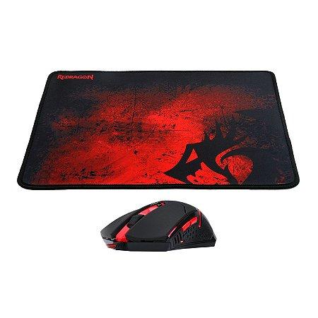 Kit Gamer Redragon Mouse e Mousepad - M601-BA