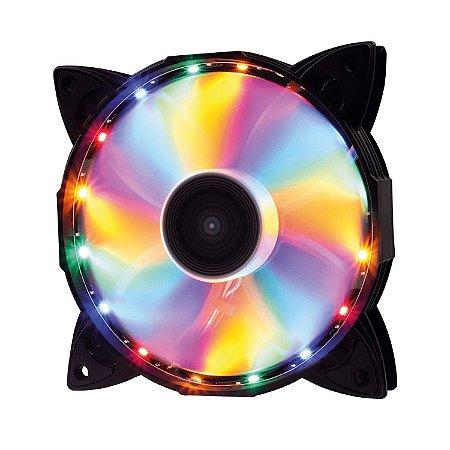 Cooler Fan OEX F30 LED Colorido, 12cm - F30