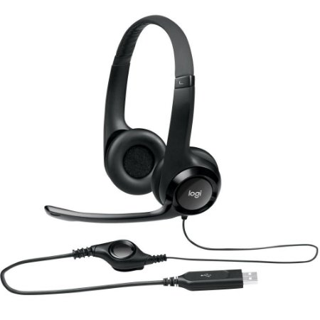 Headset Logitech H390 Áudio Digital USB Preto - 981-000014