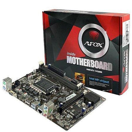 Placa Mãe Afox IH81-MA5 Chipset H81, Intel 1150, DDR3