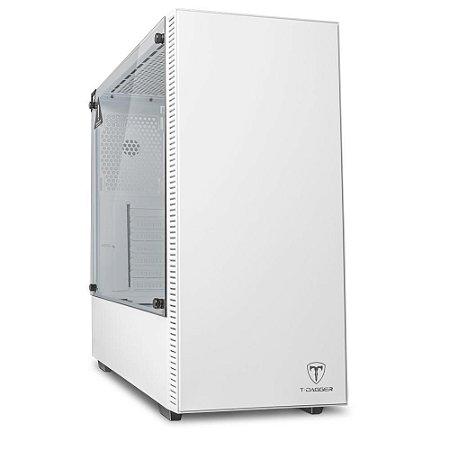 Gabinete Gamer T-Dagger Cube, Branco, S/Fan - T-TGC305W