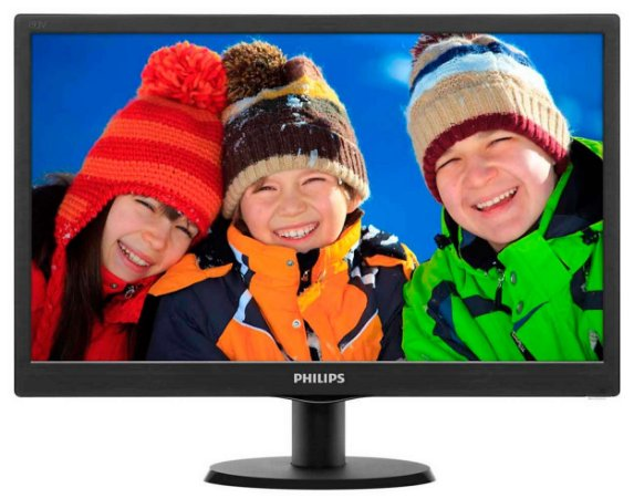 Monitor LED Philips 18.5´, HDMI, Preto - 193V5LHSB2