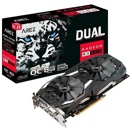 Placa de Vídeo Asus Arez Dual Radeon RX 580 OC Edition, 8GB - AREZ-DUAL-RX580-O8G