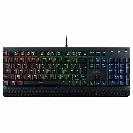 Teclado Mecânico Gamer Redragon Kala, RGB - K557RGB