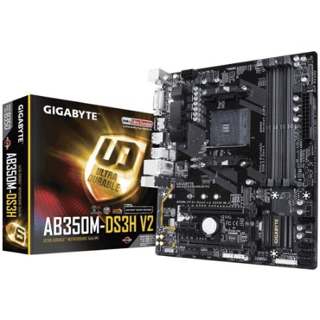 Placa-Mãe Gigabyte GA-AB350M DS3H V2, AM4, DDR4