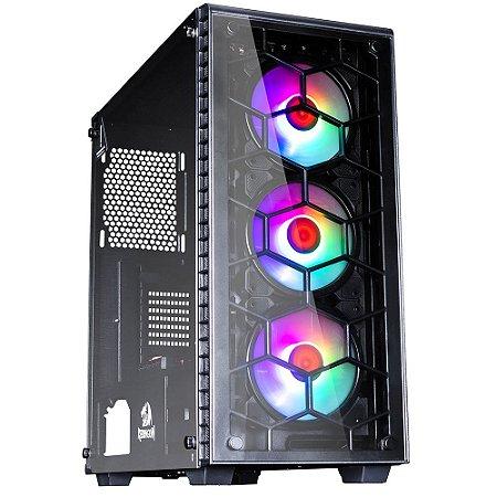 Gabinete Gamer Redragon Diamond Storm PRO, C/ 3 Fan RGB - CA903PRO