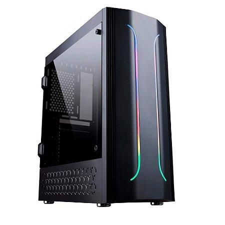 Gabinete Gamer Bluecase BG-011, RGB, Lateral Acrilico - BG011GCASE