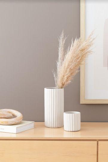 Cachepot Off White em Cimento (P)