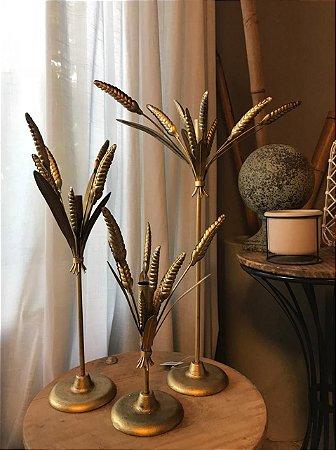 Castiçal Dourado de Metal (tamanho P)