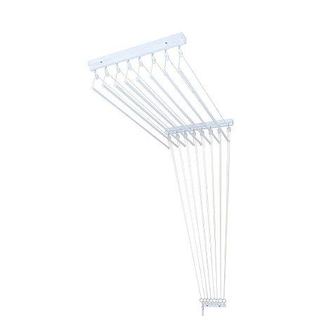 Varal de Teto Individual com 1,00 metro x 10 Varetas em Alumínio