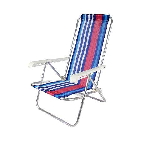 Cadeira de praia em alumínio dobrável 4 posições