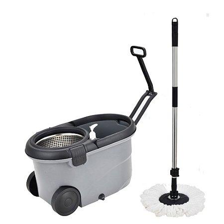Balde espremedor com mop capacidade 16 litros bege - Mop Move
