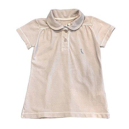RESERVA MINI camisa polo fem rosa seco 6 anos (modelagem pequena)
