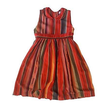 MIXED vestido viscose listras coloridas 1 anos